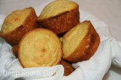 Basic Buttermilk Corn Muffins - made with all purpose cornmeal, flour and buttermilk.