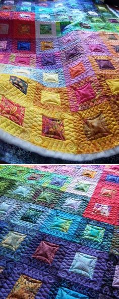 Batik Quilt made by Craftsy member mamavozw26656. Click to ask questions and find out what class they used to make this colorful quilt.