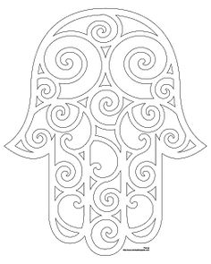 Hamsa Embroidery Pattern without eye