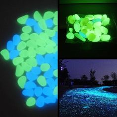no one would run off the drive with glowing rocks, it'd be cool in a garden at night for kids to play on the paths