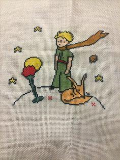 #kanaviçe #küçükprens #handmade #letitprince Cross Stitching, Cross Stitch Embroidery, Hand Embroidery, Cross Stitch Patterns, Little Prince Quotes, The Little Prince, Stitch Book, Diy Couture, Needle And Thread