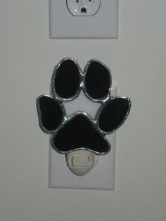 Stained Glass Paw Print Night Light by IBeanArts on Etsy, $25.00