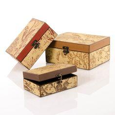 Set 3 cajas provenzal multicolor