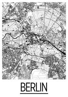 Berlin A Cold War Map Showing The Berlin Wall As A Brickedup - Berlin map in germany