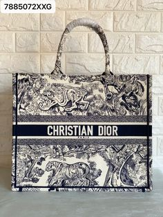 Christian Dior CD embroidered booktote large size tiger
