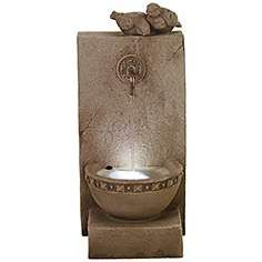 Bailey Lake Sandstone Fountain with LED Light