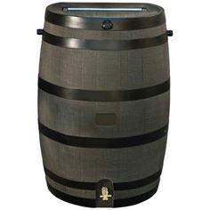 "50 Gallons Dark Oak appearance UV-resistant plastic 33"" Tall x 23"" Wide"