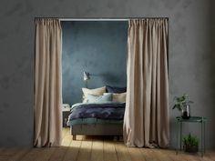 VIDGA Corner room divider, white - IKEA Curtains To Go, Room Darkening Curtains, Linen Curtains, Hanging Curtains, Ikea Room Divider, Room Divider Curtain, Curtain Rails, Curtain Holder, Ceiling Materials