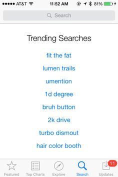 "iOS App Store's ""Trending Searches"" Section Shows Evidence Of Gaming 