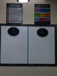 Homework Whiteboard from Home Depot Chalkboard Classroom, Whiteboard, Home Depot, Homework, Student, Erase Board