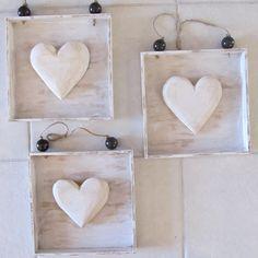Wooden Square Heart Decor by 4SeasonsDecor on Etsy, $8.00