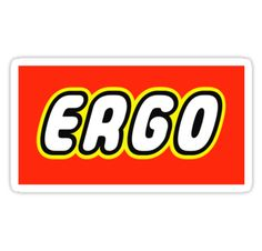 """ERGO by Customize My Minifig"" Stickers by ChilleeW 