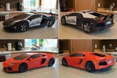 Lamborghini Aventador Paper-Super-Craft by Taras Lesko, via Behance