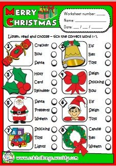 ESLCHALLENGE - ENGLISH TEACHING RESOURCES   - CHRISTMAS FUN TIME PACK http://eslchallenge.weebly.com/packs.html