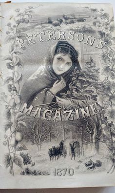 BOUND Peterson's Magazine, Year 1870 (COMPLETE), Victorian Publication, Clothing, Historical, Fashio
