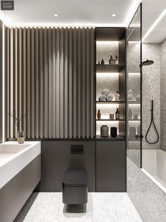 Top Amazing Black Modern Bathroom Interior Design Secrets RoomSketcher Home Designer is stuffed with loads of great features to fulfill your house des. Bathroom Design Luxury, Bathroom Layout, Modern Bathroom Design, Modern House Design, Home Interior Design, Small Bathroom, Master Bathroom, Washroom, Dream Bathrooms