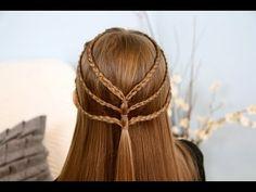 Triple-Braided Tieback | Cute Girls Hairstyles #Braids #Hairstyles
