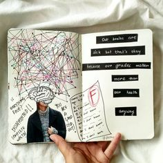 Tips, ideas, and tricks, that will help you get started right away with your own art journal! Art Journal Pages, Journal D'art, Drawing Journal, Bullet Journal Writing, Journal Quotes, Scrapbook Journal, Bullet Journal Ideas Pages, Bullet Journal Inspiration, Journal Prompts
