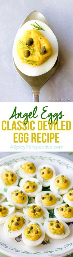 How to Make Angel Eggs: Classic Deviled Eggs Recipe | ASpicyPerspective.com