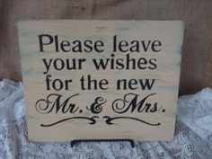 I want to make this #wedding wishes sign!