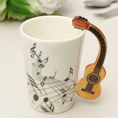 Cheap cups windows, Buy Quality cup directly from China cup and saucer bone china Suppliers: Novelty Guitar Ceramic Cup Personality Music Note Milk Juice Lemon Mug Coffee Tea Cup Home Office Drinkware Unique Gift Funny Coffee Mugs, Funny Mugs, Funny Gifts, Ceramic Coffee Cups, Personalized Cups, China Mugs, Mug Cup, Drinkware, Tea Cups
