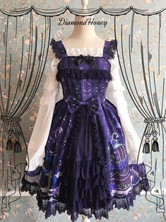 c7252e33e4a Diamond Honey Gothic Cake Lolita Dress JSK  kawaiifashion