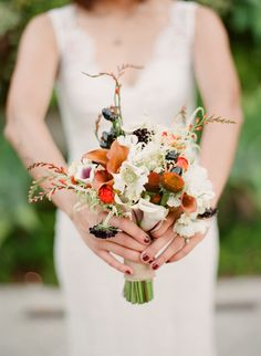 Rustic Autumnal Bridal Bouquet | MJR Designs | Mi Belle Photography | TheKnot.com