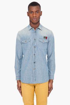 Marc Jacobs Indigo Denim Shirt - http://consumptionboutique.com/2012/08/08/marc-jacobs-indigo-denim-shirt/