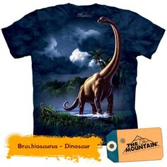 The Brachiosaurus Kids T-Shirt from THE MOUNTAIN is one of the coolest dino tees you'll ever find! For a look that will never go extinct, shop our huge collection of DINOSAUR T-SHIRTS. Dinosaur Shirt, Dinosaur Toys, Dinosaur Gifts, Dinosaur Cake, Biker, Steampunk, Oeko Tex 100, Tie Dye T Shirts, Tee Shirts