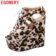 EGONERY 2017 fashion sandals women shoes for party super high heels shoes wedges lace pumps high quality dress shoes for woman
