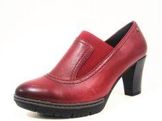 trendové dámske kožené topánky s opätkom