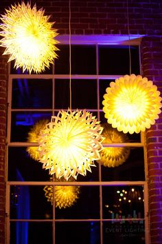 These yellow, or any bright color, lanterns can create a fun atmosphere at any event!
