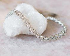 Silver and Crystal Wedding Bracelet, Anastasia 2 Wedding Jewelry, Wedding Rings, Wedding Bracelets, Bridesmaid Jewelry Sets, Crystal Wedding, Crystal Bracelets, Anastasia 2, Bracelet Set, Fashion Bracelets