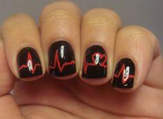 """My heart skips a beat"" mani from nail loopy"