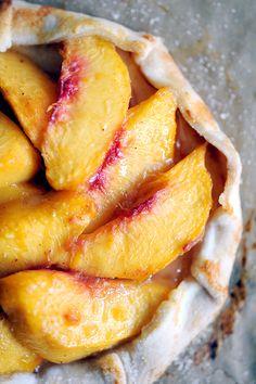 Rustic Peach Tarts with Honey Glaze