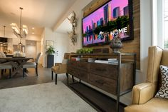 Living room/dining room transition....Pictures of the HGTV Smart Home 2015 Living Room | HGTV
