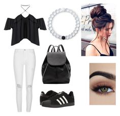 """""""Cozy"""" by cierra-watkins12 on Polyvore featuring River Island, adidas, Witchery and Lokai"""
