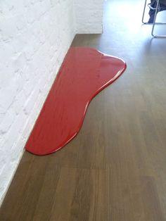Rainer Splitt, Farbguss Pigment Pur, 160 x 60 x 2 cm, 2010