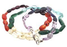 Chakra-Oval-Polished-Tumbled-Healing-Gemstone-Necklace