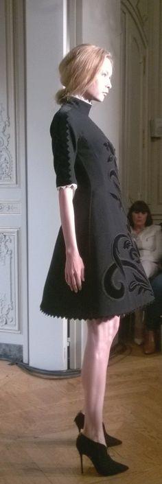 Yanina's show, 8 july, Paris.  Haute Couture F/W 14.15 First dress