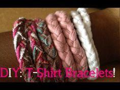 DIY: T-Shirt Bracelet! - YouTube