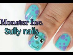 DIY Monster Inc Sully Nails DIY Nails Art
