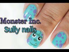 DIY Monster Inc Sully Nails DIY Nails Art
