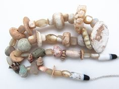 Mother of Pearl Shell Beads - Ancient Afghani