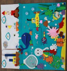 "Развивающий коврик ""Море"" Diy Quiet Books, Felt Quiet Books, Quite Book Patterns, Felt Stories, Fish Crafts, Baby Sewing Projects, Fabric Toys, Art N Craft, Craft Show Ideas"