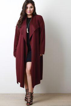 Plus Size Longline Jacket