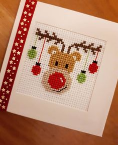 Christmas collection 2018 ☆ light up christmas with this reindeer christmas card 🎅🎄⛄ stitchedbybelle stitching christmas… Cross Stitch Christmas Cards, Xmas Cross Stitch, Just Cross Stitch, Cross Stitching, Cross Stitch Embroidery, Christmas Cross Stitch Patterns, Stitch Pictures, Crochet Cross, Card Patterns