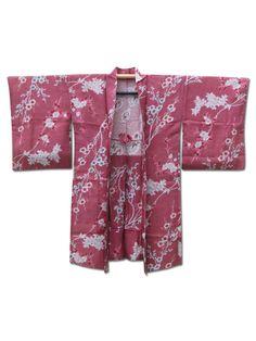 ☆ New Arrival☆ 'Spring Salute' #Ladies #silk #antique #Japanese #haori #kimonojacket from #FujiKimono  http://www.fujikimono.co.uk/fabric-japanese/spring-salute.html