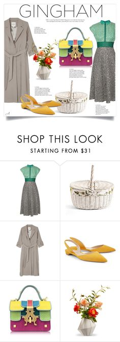 """""""Gingham"""" by andragabriela on Polyvore featuring Lela Rose, Monki, Paul Andrew, Giancarlo Petriglia and National Tree Company"""