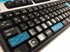 マステでキーボードデコ